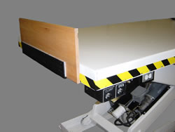 Pneumatic Board Clamp — Can be positioned on any side.
