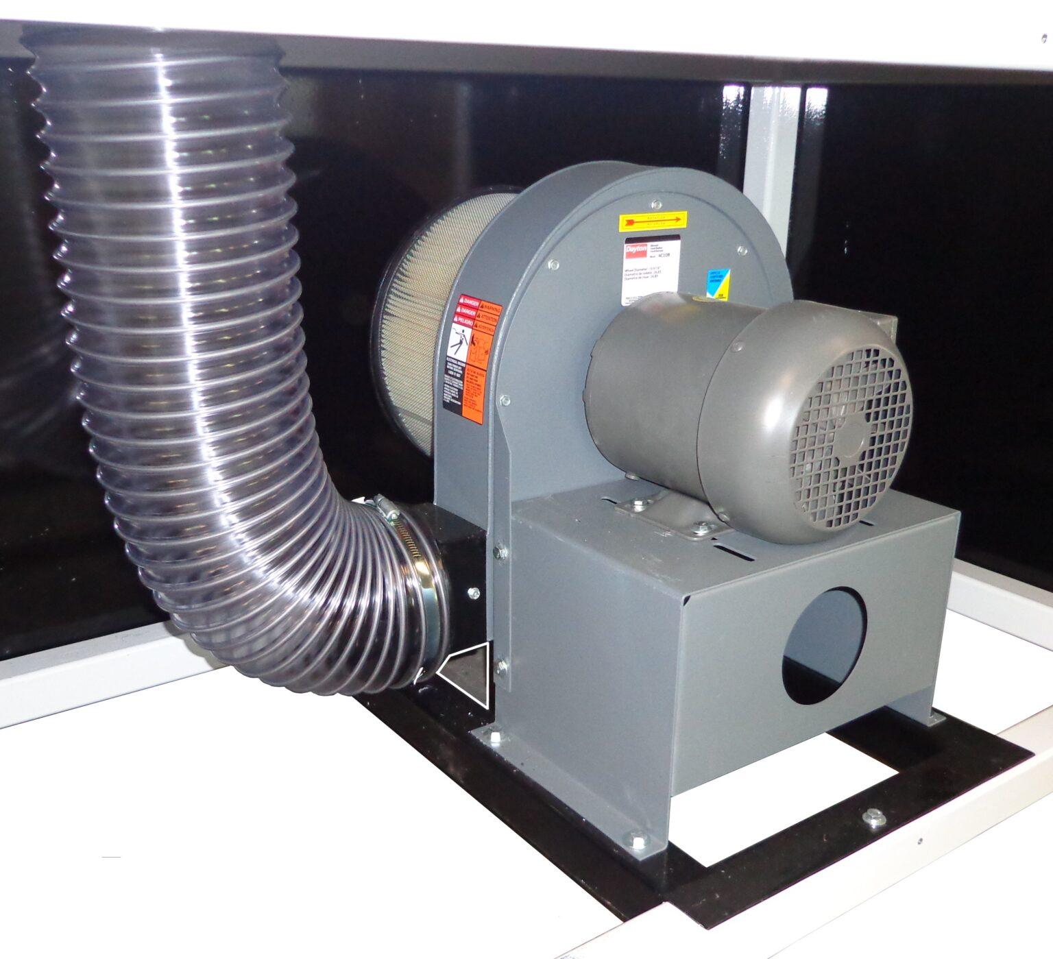 3-Phase High Pressure Blower System 6″ Diameter Air Hose Serviceable Air Filter